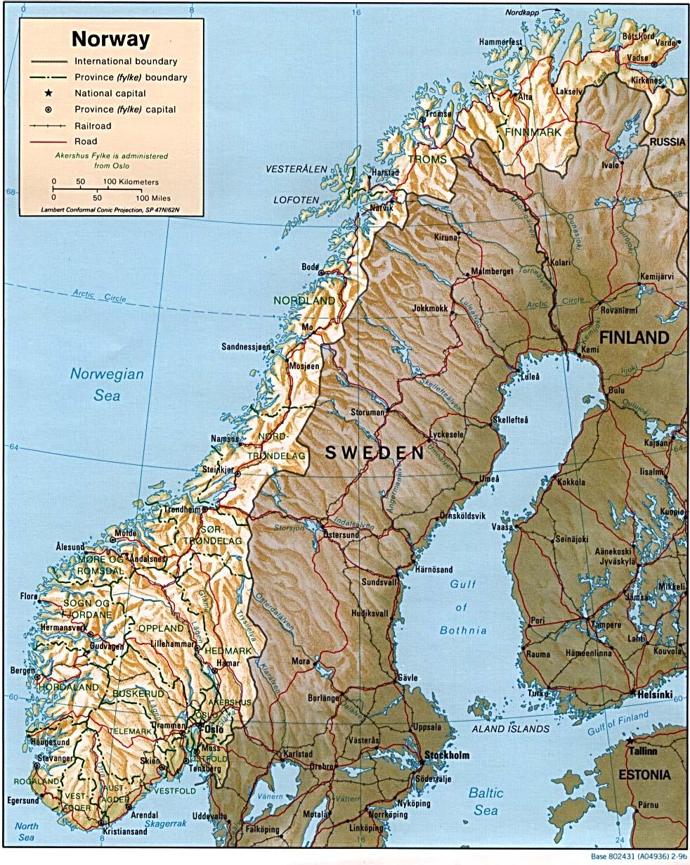 terreng kart norge Kart over Norge   Terreng kart Norge terreng kart norge